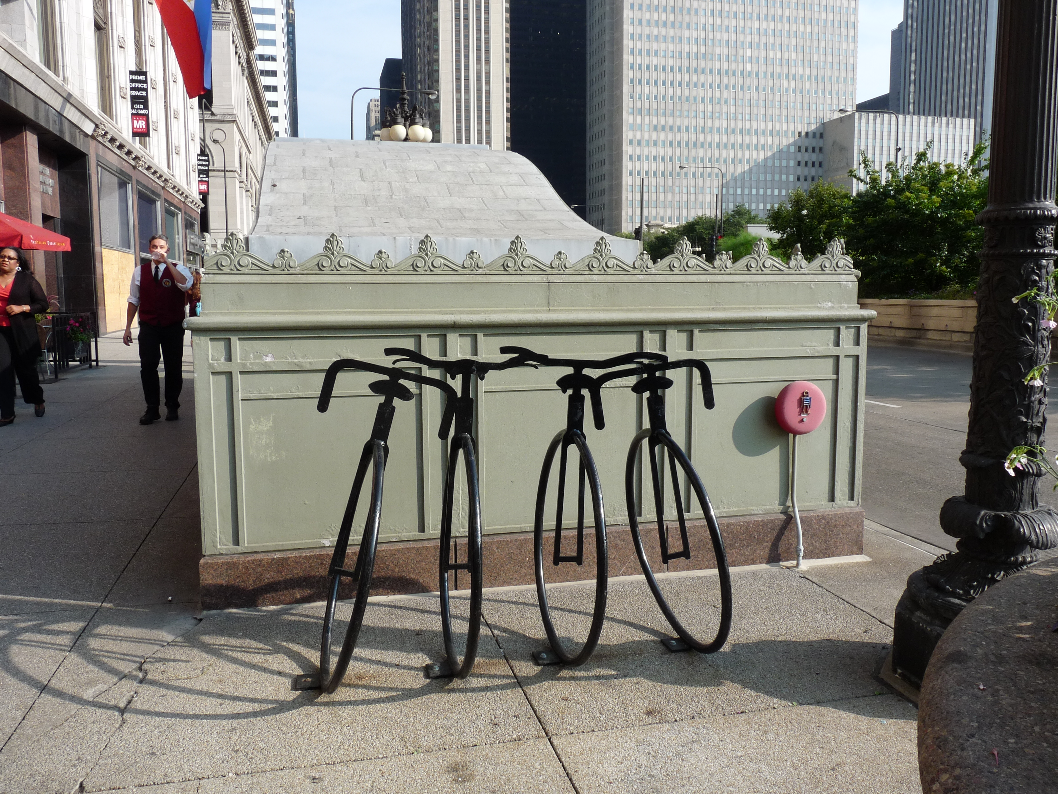 Bike rack project in Chicago, Il.